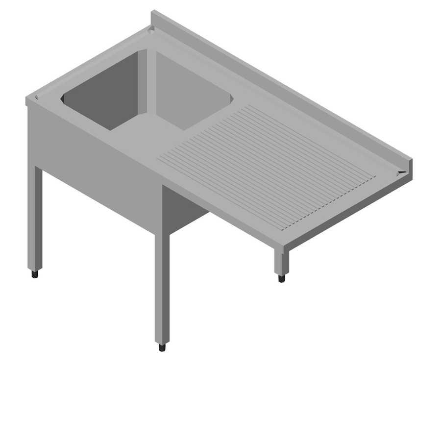 Öztiryakiler Bulaşık Makinası Üstü Evyeli Tezgah 1G/1D Sağ 140x60 cm