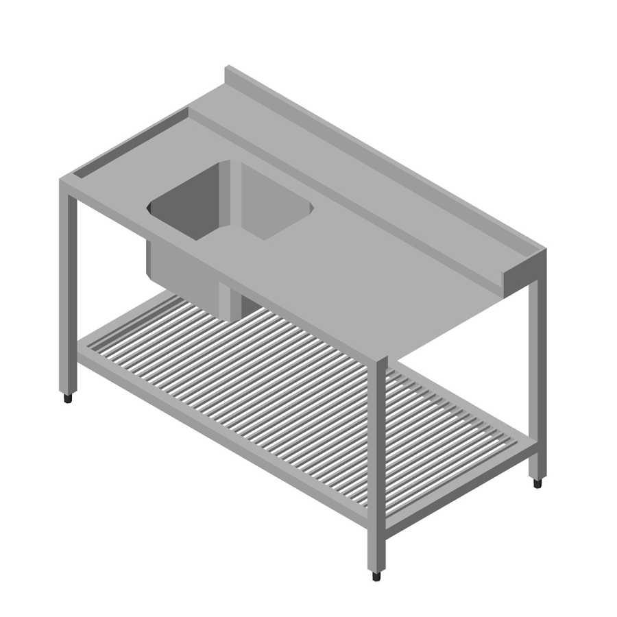 Öztiryakiler Bulaşık Yıkama Makinesi Giriş Alt Tablalı 1 Evyeli, Soldan 90x75 cm