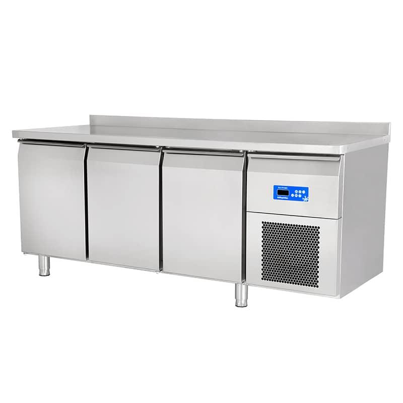 Öztiryakiler 3 Kapılı Monoblok Tezgah Altı Buzdolabı, 304 Kalite, Gn Tipi, Tag 370 Nmv,