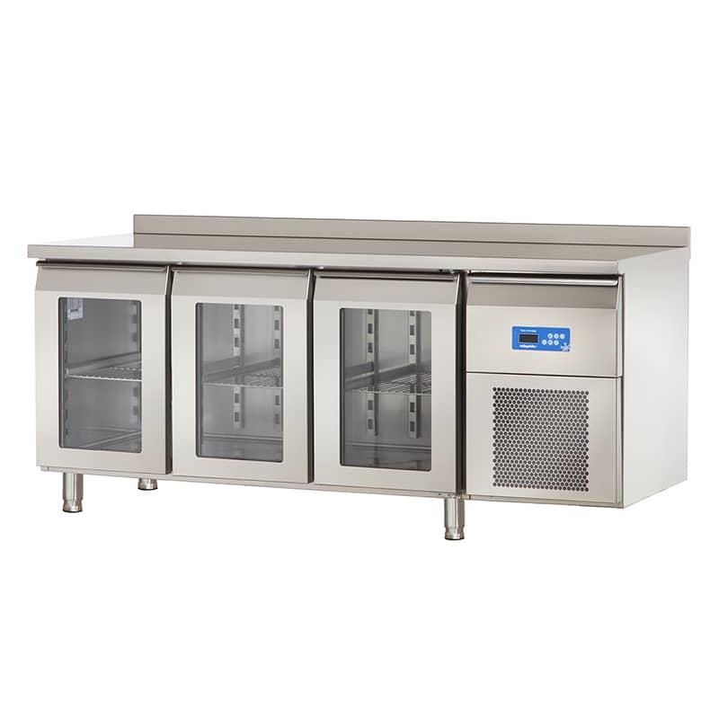 Öztiryakiler 3 Cam Kapılı Tezgah Altı Buzdolabı, Ta 360.01 Nmv