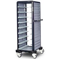 Gastrolley - Gastrolley Tekli Termo Tepsi Taşıma Arabası, 9 Raflı, 2 Yanı Kapalı (1)