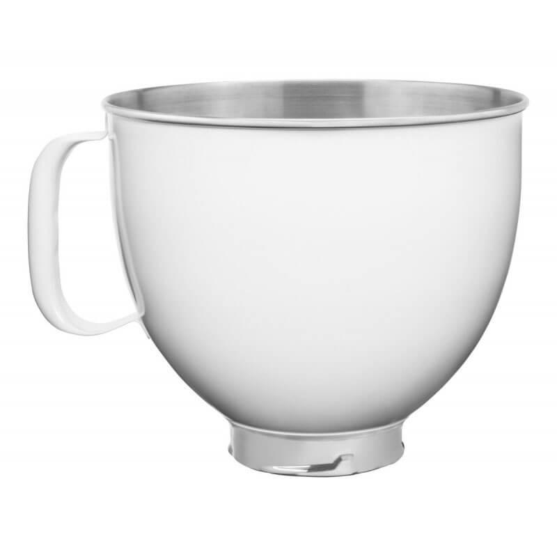 Kitchenaid 4,8 L Stand Mikser İçin Paslanmaz Çelik Kase, Beyaz - 5KSM5SSBWH
