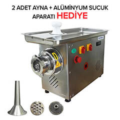 Mateka - Mateka ESG 22T Inox Kafalı Et Kıyma Makinesi, Soğutuculu, No.22, Trifaze 380V (1)