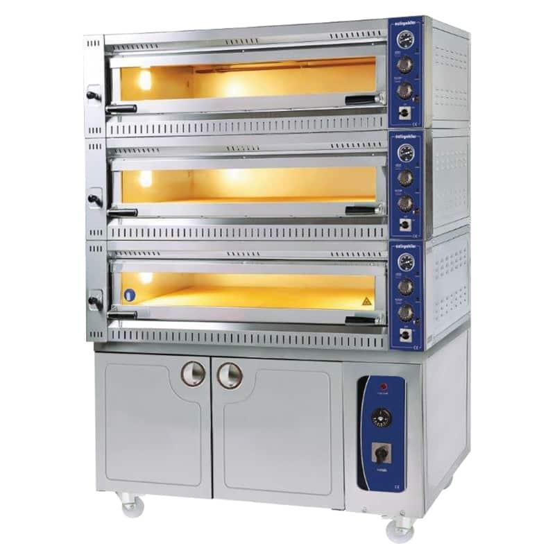 Öztiryakiler 3 Katlı Pizza Lahmacun Fırını, Mayalama Kabinli, 18 Pizza Kapasiteli, 10570 TE-3