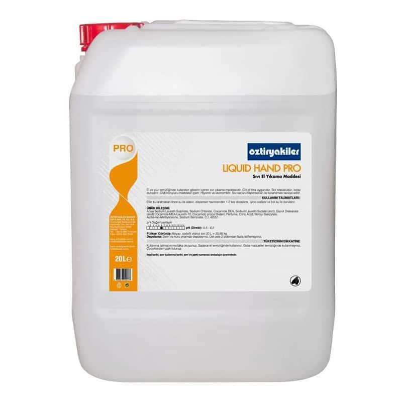 Öztiryakiler Krem İçeren Sıvı El Yıkama Maddesi, Liquid Hand Pro Gliserin, 20 lt
