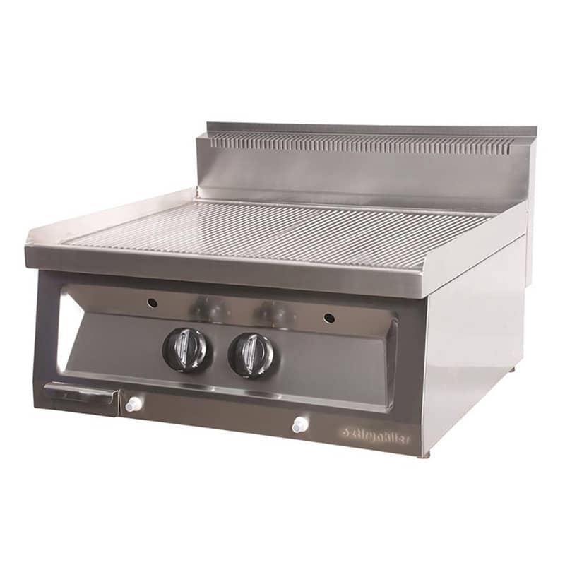 Öztiryakiler Gazlı Grill Plate, Oluklu, 70x65x30 cm,OGPG 7065 N PS