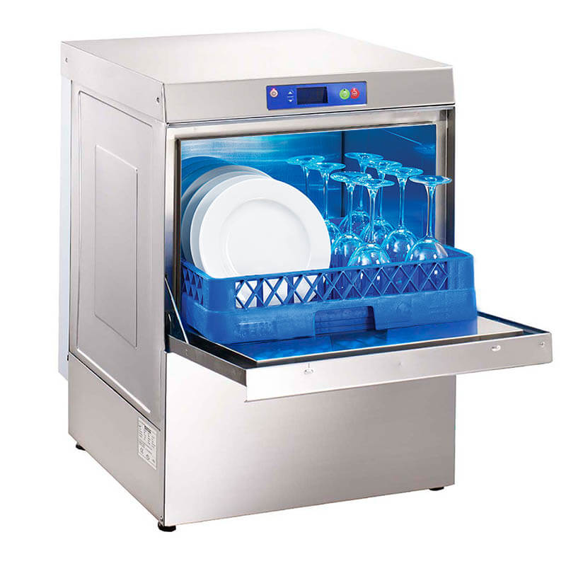 Öztiryakiler Sanayi Tipi Bulaşık Yıkama Makinesi, Oby Dijital 500 DETR, Tahliye Pompalı