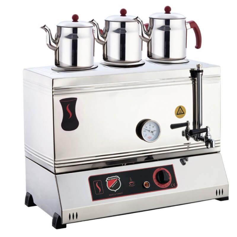 Silver 3 Demlikli Çay Kazanı, Pleytsiz, Ekonomik, Elektrikli, 60'lık