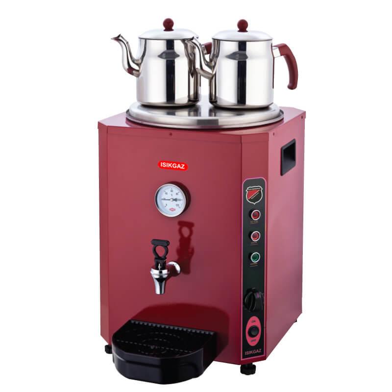 Silver Elit 2 Demlikli Çay Makinesi, 23 Litre, Kırmızı