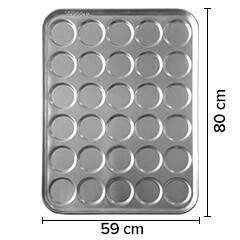 Sofuoğlu - Sofuoğlu Hamburger Ekmeği Tavası, 30 Gözlü, 10,5 cm çap, 59x80 cm, 60 gram (1)