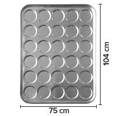 Sofuoğlu - Sofuoğlu Hamburger Ekmeği Tavası, 48 Gözlü, 10,5 cm çap, 75x104 cm, 60 gram (1)