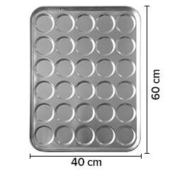 Sofuoğlu - Sofuoğlu Hamburger Ekmeği Tavası, 8 Gözlü, 12,5 cm çap, 40x60 cm, 100 gram (1)