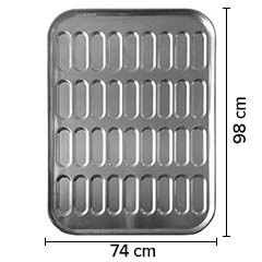 Sofuoğlu - Sofuoğlu Sandviç Ekmeği Tavası, 35 Gözlü, 74x98 cm, 80 gram (1)