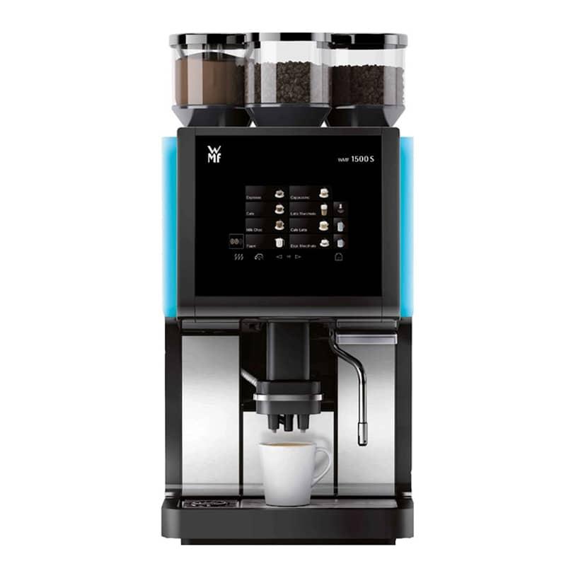 WMF 1500S Basic Milk, Su Tanklı, Buhar Çıkışlı, Ledli, 2 GR+1 CHOC, Jet Opt, Steam Jet, 230 V, 3 kw